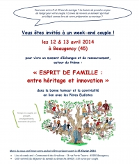 Invitation : week-end couple à Beaugency